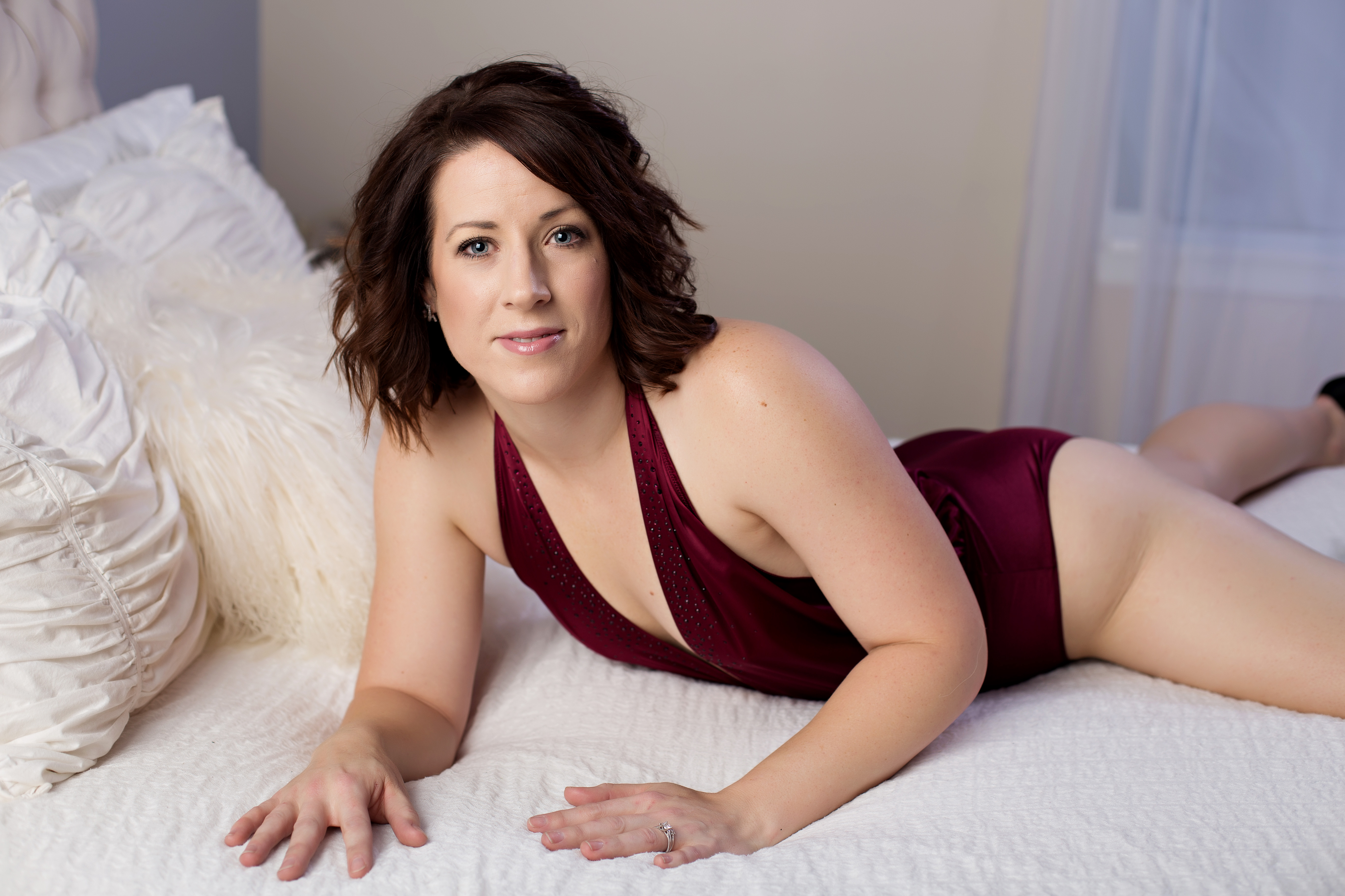 Naperville boudoir photography by Janet Lynn in studio